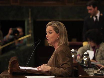 La diputada de Coalición Canaria, Ana Oramas, tras su intervención ante el pleno del Congreso. En vídeo, las palabras de Oramas.