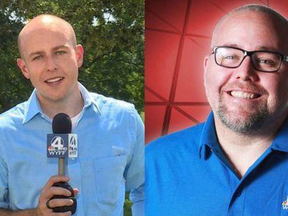 El presentador McCormick y el cámara Smeltzer.