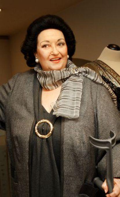La soprano Montserrat Caballe.