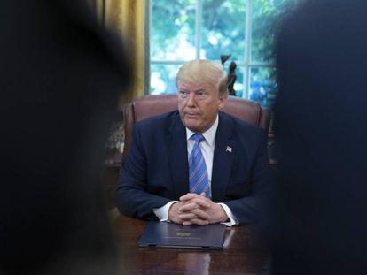 Donald Trump, el pasado lunes en el Despacho Oval.