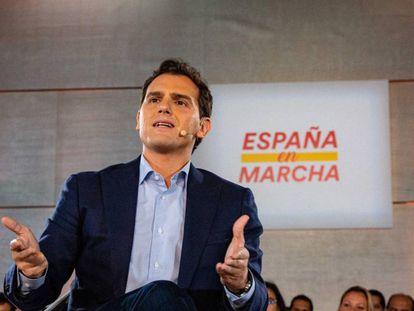 El presidente de Ciudadanos, Albert Rivera, en un acto electoral en Málaga el pasado viernes.