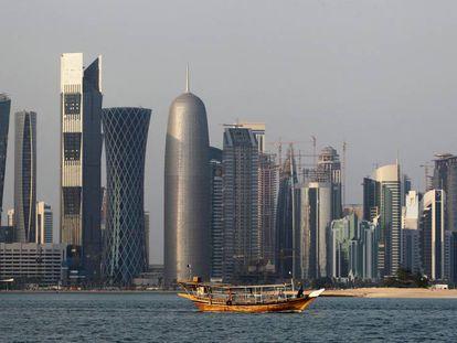 Imagen de la bahía de Doha.