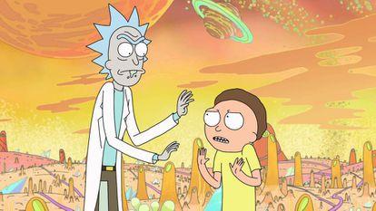 Escena de 'Rick and Morty'.