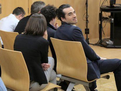 Alberto García Sola, el fundador de Seriesyonkis, en el juicio.
