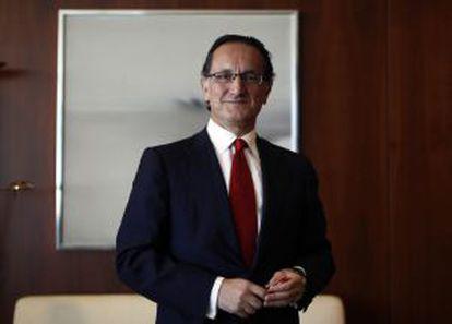 Jesús Zabalza, en la sede del Banco Santander en Madrid.