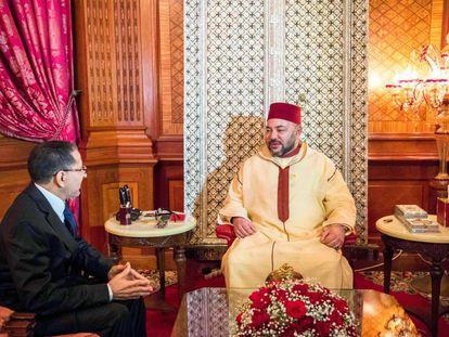El rey de Marruecos, Mohamed VI, recibe este viernes en el Palacio Real de Casablanca al nuevo jefe de Gobierno, el islamista del PJD Saadedin el Othmani.