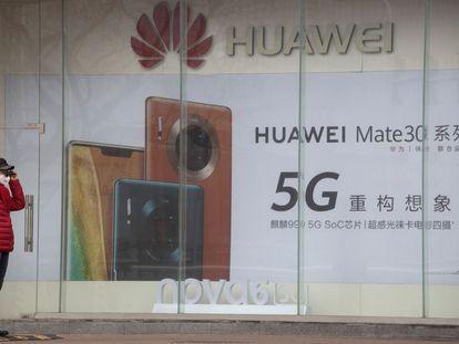 Tienda de Huawei en Pekín.