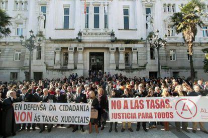 Imagen de las protestas en A Coruña