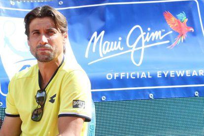David Ferrer, durante un acto publicitario.