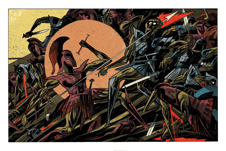 Una página de 'La cólera', de Santiago García y Javier Olivares, editado por Astiberri.