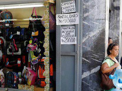 Una tienda en el centro de Caracas.