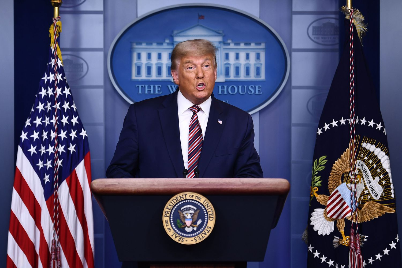 Trump, durante su conferencia de este jueves.