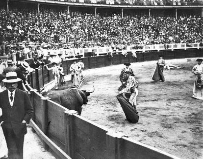 Joselito el Gallo, en la plaza de Santander, en 1913.