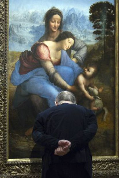 La 'Santa Ana' de Leonardo da Vinci, expuesta tras su controvertida restauración.