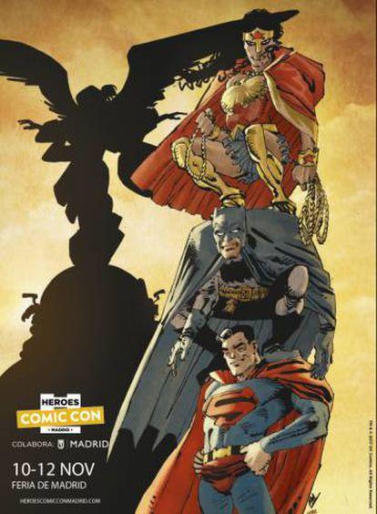 Cartel de la Heroes Comic Con de Frank Miller.