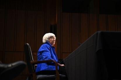 La secretaria del Tesoro de los Estados Unidos, Janet Yellen, comparece ante el Comité de Banca, Vivienda y Asuntos Urbanos del Senado, el 28 de septiembre de 2021.