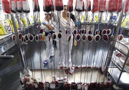 Centro de donación de sangre de la Comunidad de Madrid.