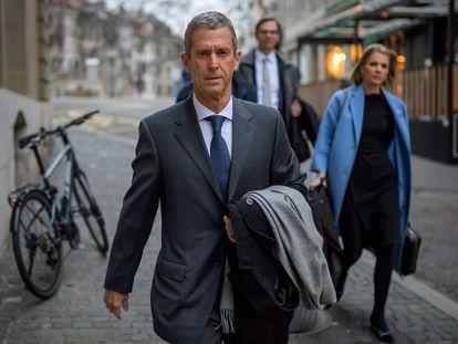 El empresario Benjamin Steinmetz sale de un tribunal en Ginebra (Suiza), el pasado 11 de enero.
