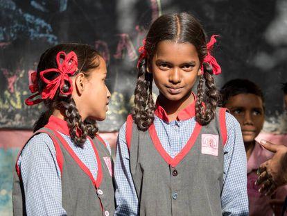 Alumnas de la escuela de la ONG en Bombay.