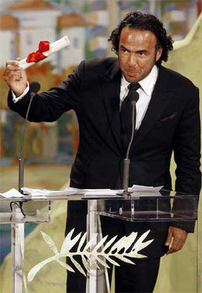 Alejandro González Iñárritu, mejor director por <i>Babel</i>.