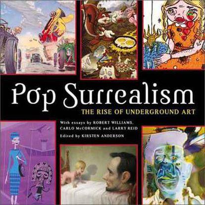 Portadas de varios libros consagrados al fenómeno del surrealismo pop.