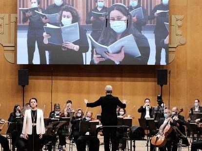 Concierto de la Real Filharmonía con el coro de la OSG.