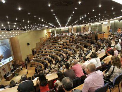 El Aula Magna de la Universidad Miguel Hernández de Elche, en una imagen de archivo.