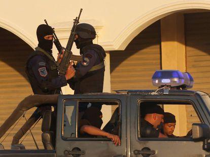 Policía antidisturbios en Egipto, en el sur de El Caíro, la semana pasada