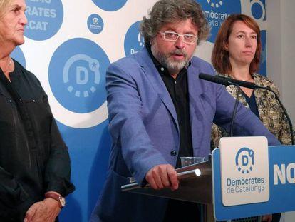 Antoni Castellà, este lunes en rueda de premsa.