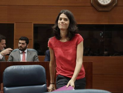 Isa Serra, el miércoles 10 de julio durante el Pleno de la Asamblea de Madrid.