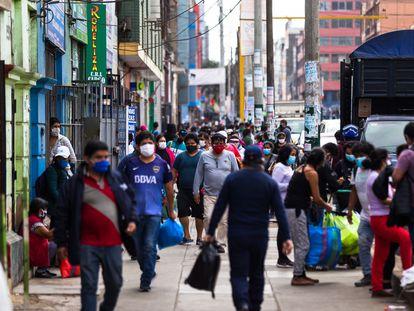 Una calle del centro de Lima.