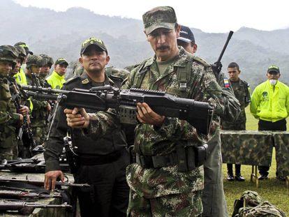 El general Nicacio Martínez,  exjefe del Ejército de Colombia, en una imagen de archivo.