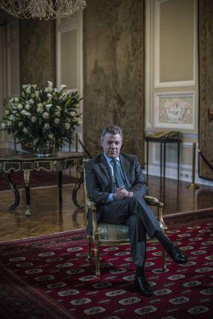 Juan Manuel Santos, en la Casa de Nariño.