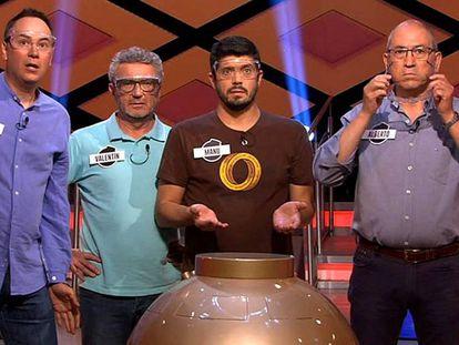 Erundino, Valentín, Manu y Alberto, en '¡Boom!'.