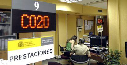 Interior de una oficina de empleo de Valladolid.