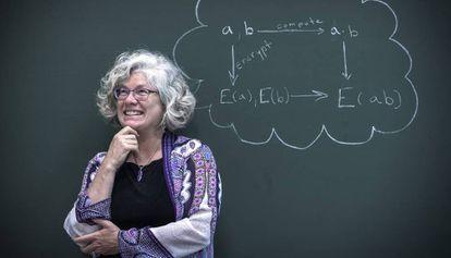 Kristin Lauter, en Valencia, con su fórmula de cifrado homomórfico.