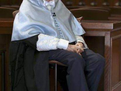 El poeta cordobés Pablo García Baena, el 20 de abril de 2017.