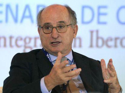 Antonio Brufau, durante su intervención en Panamá.