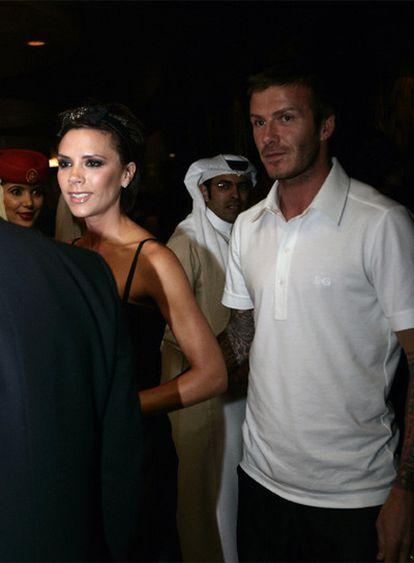 David y Victoria Beckham, en Dubai el pasado mes de enero.