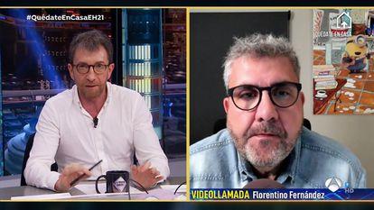 Pablo Motos y Florentino Fernández, en 'El hormiguero'.