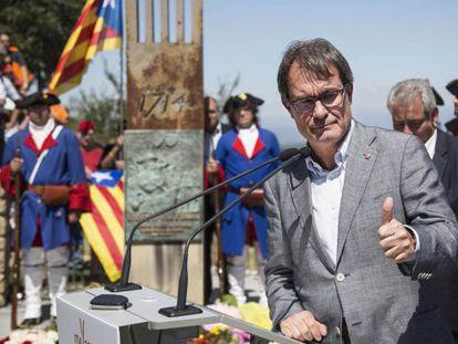 Artur Mas, en un acto en Talamanca (Manresa).