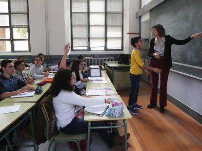 Una clase en un instituto de Zamora.
