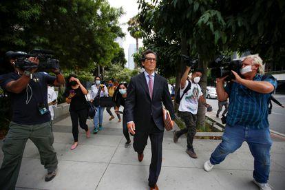 Mathew Rosengart, el abogado de Britney Spears, retratado en una vista en Los Ángeles, California, el 26 de julio de 2021.