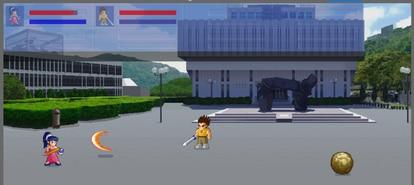 Escenario de Token Fighter, en el que los personajes de sus coleccionables tienen la capacidad de luchar en un 'Street Fighter' 'online' y competir con los de otros inversores.