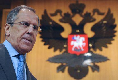 Serguéi Lavrov, ministro de Exteriores ruso.