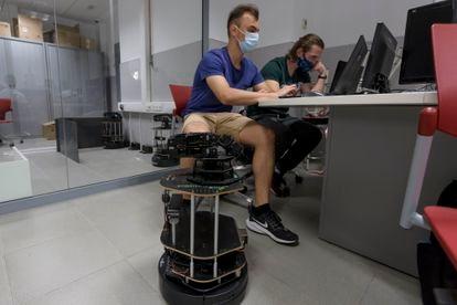 Clase en la Universidad de Alicante, el pasado mayo.