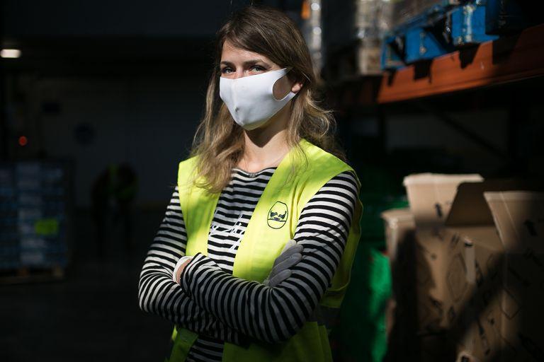 Barbara Stegemann en el Banco de Alimentos de Barcelona