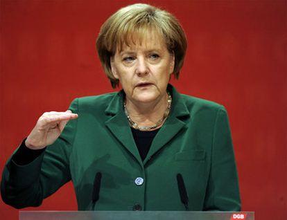 La canciller alemana Angela Merkel, en un acto en mayo.