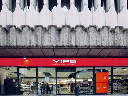 Una tienda-restaurante del Grupo Vips en Madrid
