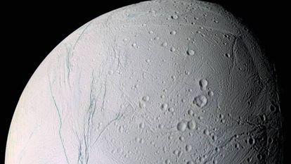 Imagen de Encélado tomada por la sonda 'Cassini'.
